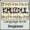 Language stamp: Khuzdul lvl beginner by Alpanu