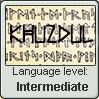 Language stamp: Khuzdul lvl intermediate by Alpanu