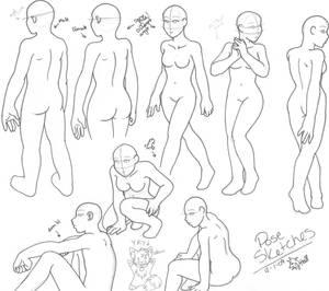 Rough pose sketches