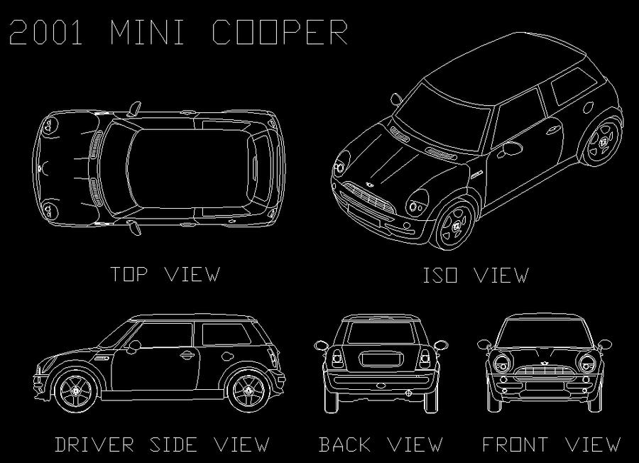 Mini Cooper Autocad Drawing By Masteroftulips On Deviantart