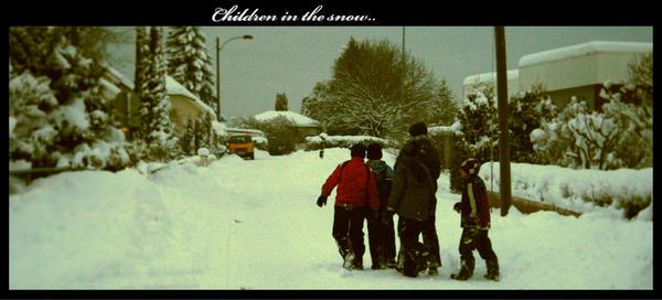Children in the snow.. by sunduck