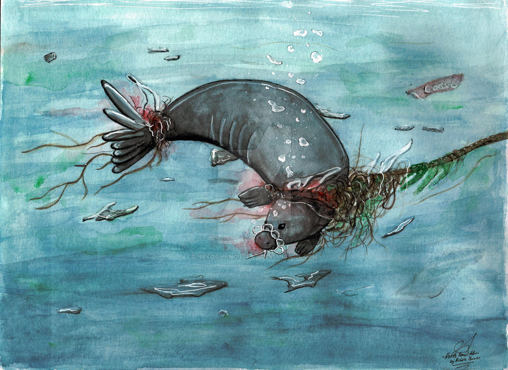 Trashocean . Plastikmeere by Nekos-Pencil-Art
