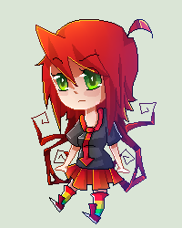 Scarlet pixel art by KillyPopp