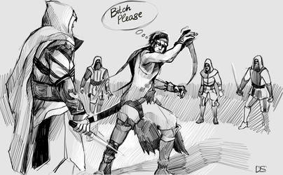 assassins vs prince of persia by AndyAlbarn