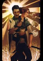 Tarot Commission - Dorian/Lavellan