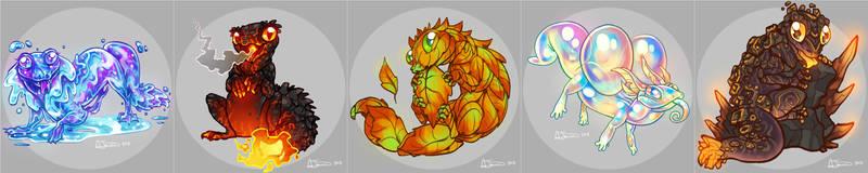 Elemental Lizards