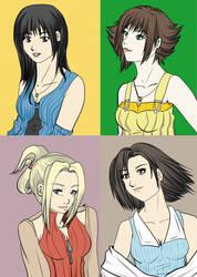 Final Fantasy 8 girls by Khaneety
