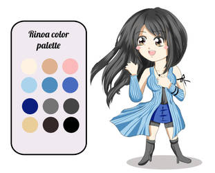 Chibi Rinoa and color palette by Khaneety