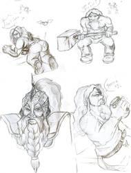Dwarf training by Khaneety
