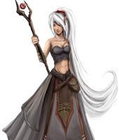 Pathfinder Sorceress - Edwen by Khaneety