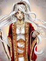 Sorceress - Pathfinder Elf by Khaneety