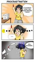 Comic strip : procrastination by Khaneety