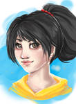 Speed paint portrait by Khaneety