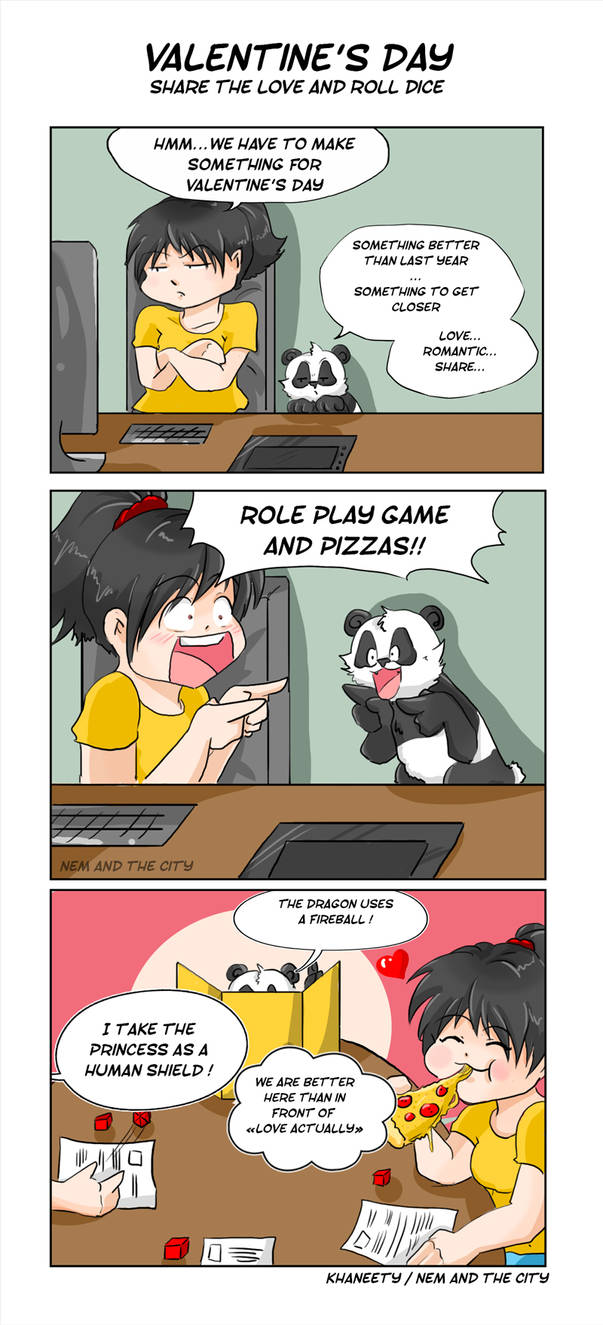 Comic Strip - RPG and valentine's day by Khaneety