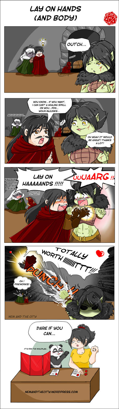 RPG comic strip - Lay on hands by Khaneety