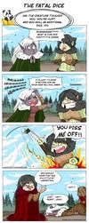 Comic strip - the fatal dice by Khaneety