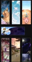Dokomi 2012 bookmarks by Carreauline