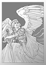 Angel Wings 6: Warrior Angel by MPFitzpatrick