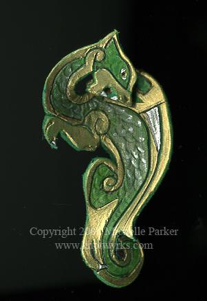 Celtic Dragon Leatherwork by MPFitzpatrick