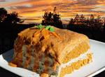 Raw Sunset Karrot Kake