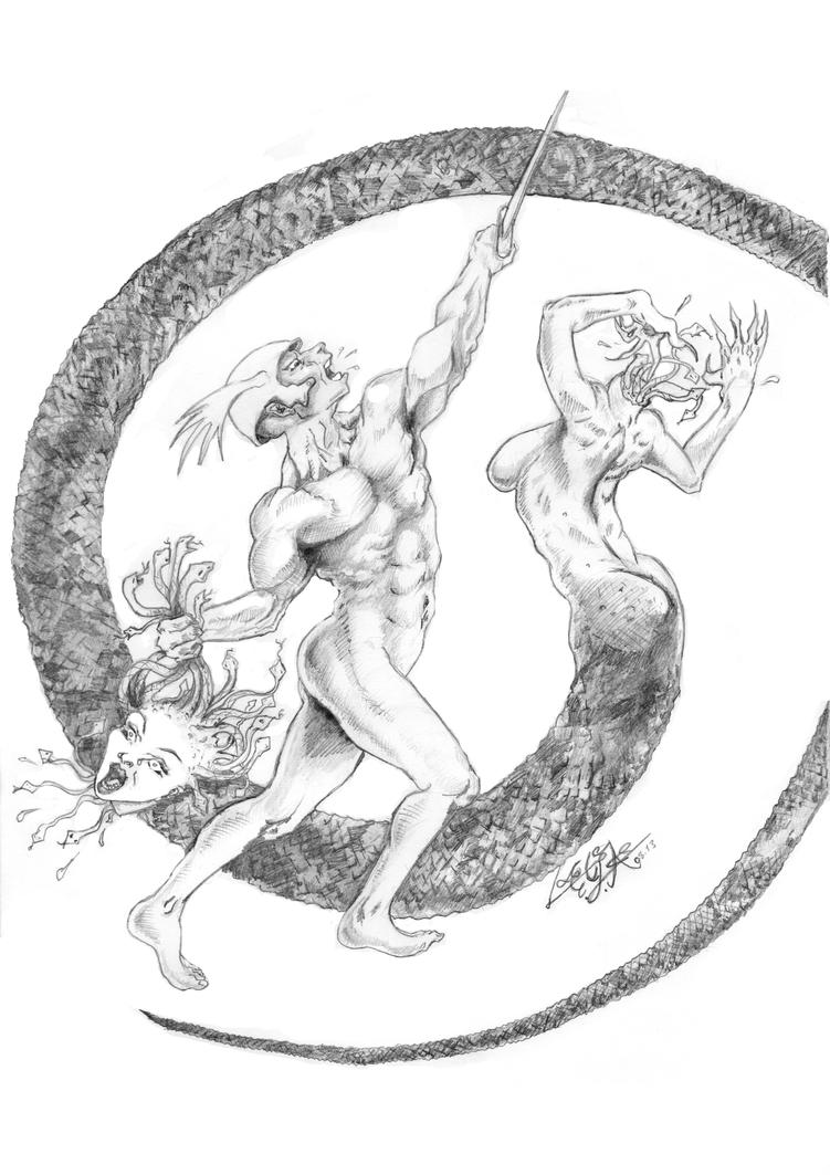 PERSEUS and MEDUSA_by_ega by wishmaster6