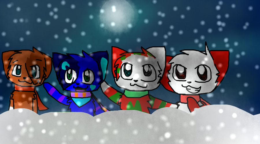 Mewwy Christmas!! by Featherpool101