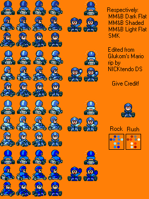 Mega Man in Super Mario Kart by CyberMaroon