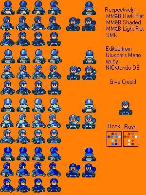 Mega Man in Super Mario Kart by CyberMaroon