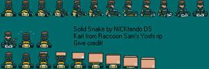 Snake in Super Mario Kart by CyberMaroon