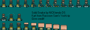 Snake in Super Mario Kart by CyberMaroon