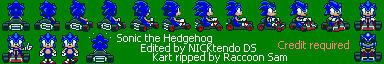 Sonic in Super Mario Kart v2