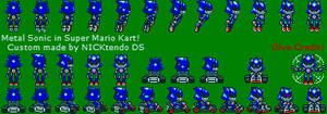 Metal Sonic in SMK by CyberMaroon