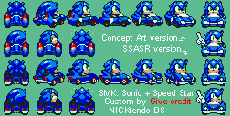 SMK All-Stars Racing Sonic by CyberMaroon