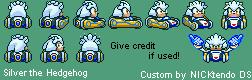 SMK Sonic Drift Silver the Hedgehog by CyberMaroon