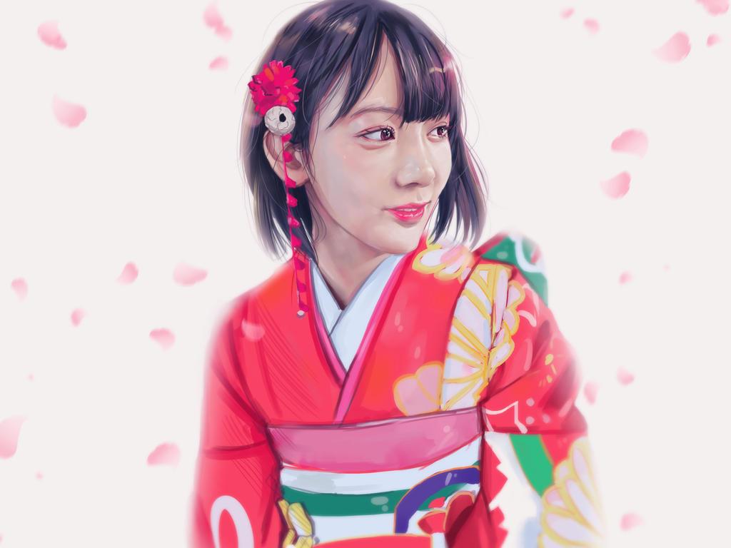 Sakura kimono[1] by BUTTERFL0W