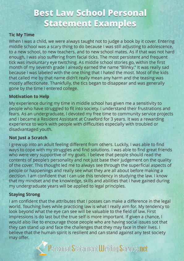 Law School Personal Statement Example by PS-Examples on DeviantArt