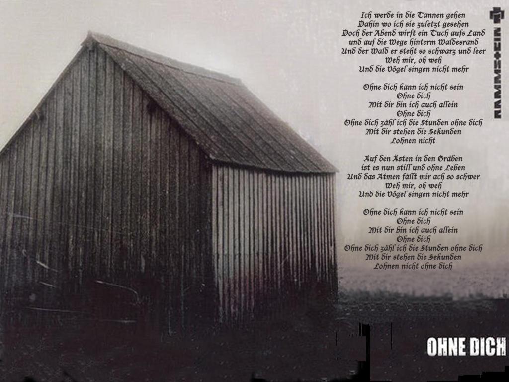 Rammstein - Ohne Dich - Текст Песни, перевод