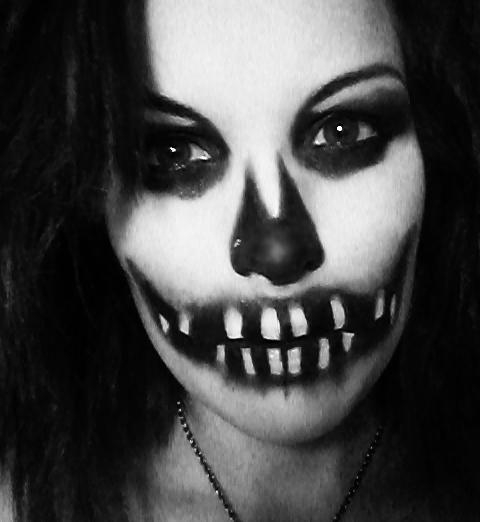 Ada Halloween face up by AdaDarkness