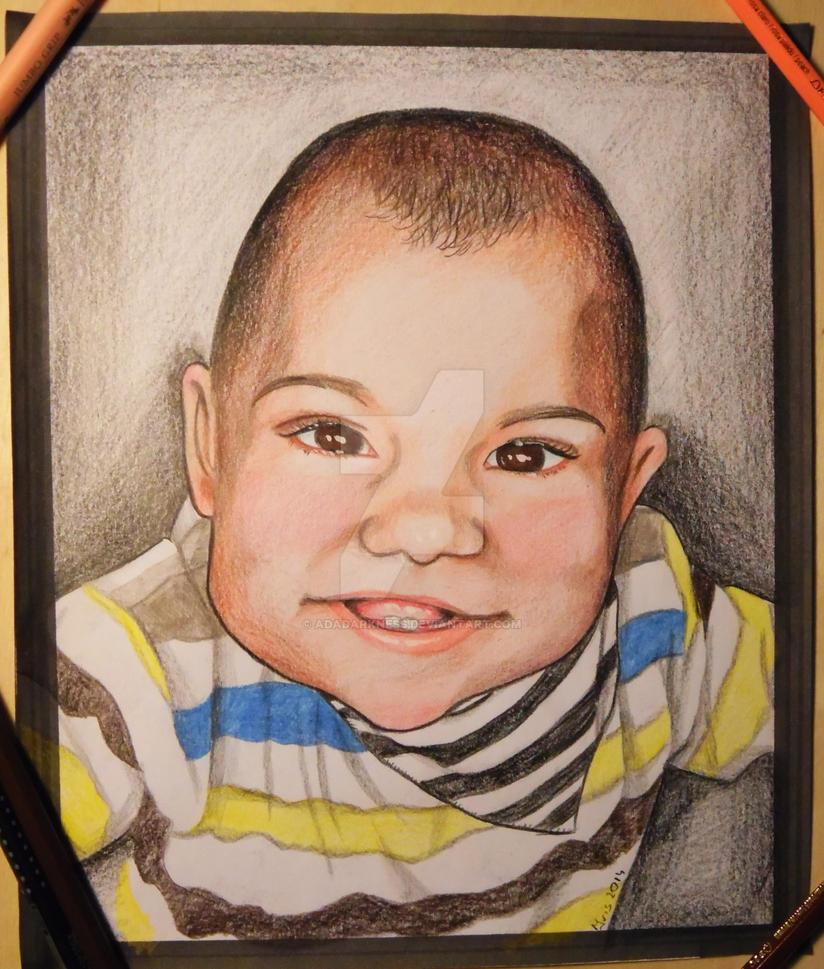 Baby portrait by AdaDarkness