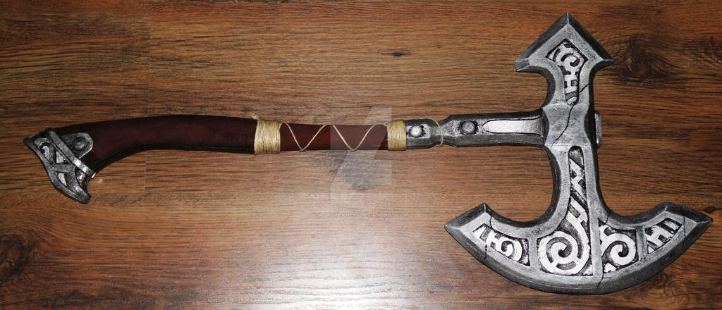 Skyrim steel axe by AdaDarkness