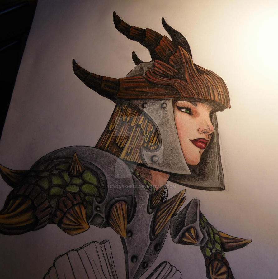 My Skyrim character by AdaDarkness