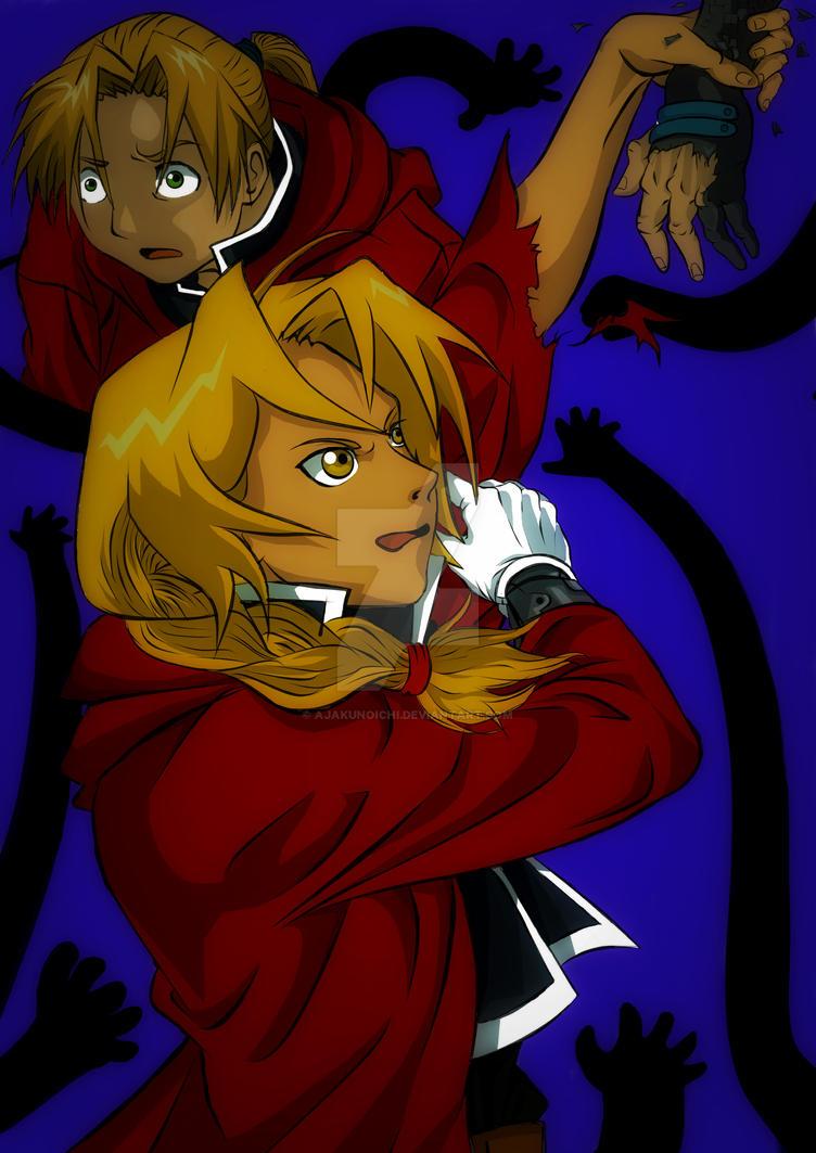 Fullmetall Alchemist Elric Bros (darker v.) by AjaKunoichi