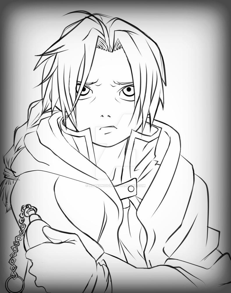 Sad Edward (Fullmetal alchemist) by AjaKunoichi