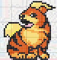 Growlithe Pattern by takocos