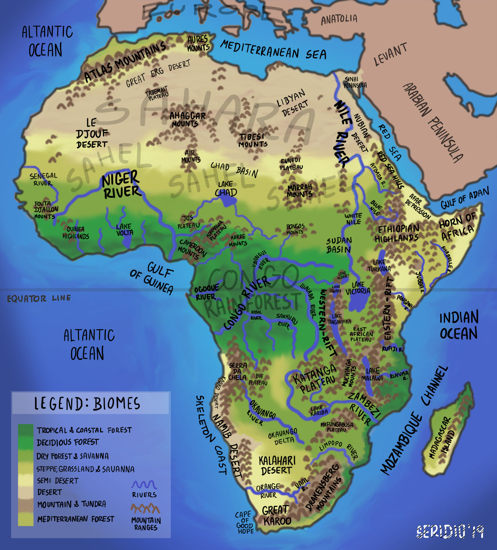 Africa Geographic Map Africa Geographic Map by seridio red on DeviantArt