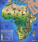 Africa Geographic Map by seridio-red