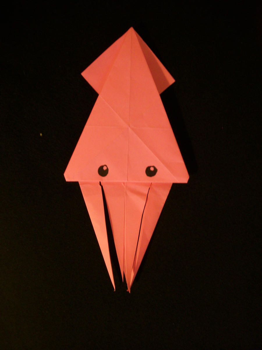 squid origami by 21jesusfreak on deviantart