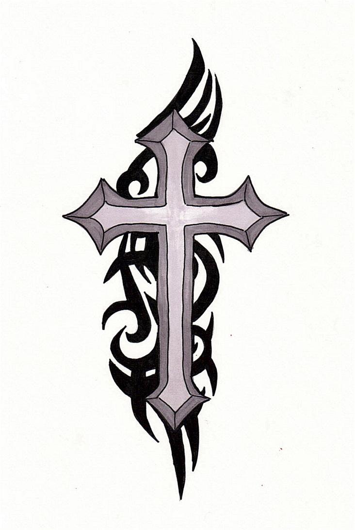 cross tattoo by 21jesusfreak on deviantart. Black Bedroom Furniture Sets. Home Design Ideas