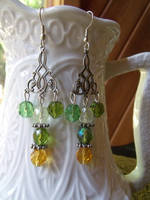 Green Earrings by Valley-of-Egeria