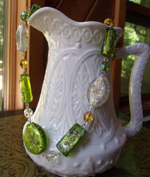 Green Necklace Detail by Valley-of-Egeria